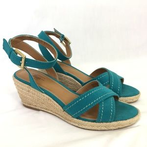 Bass 'Kendall' Espadrille Wedge Ankle Strap Sandal